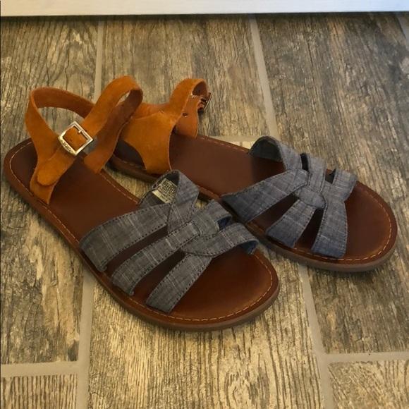 a5409777066 Toms Zoe sandal buckle chambray suede 7.5. M 5b1fc1a3d6dc52eeba134372